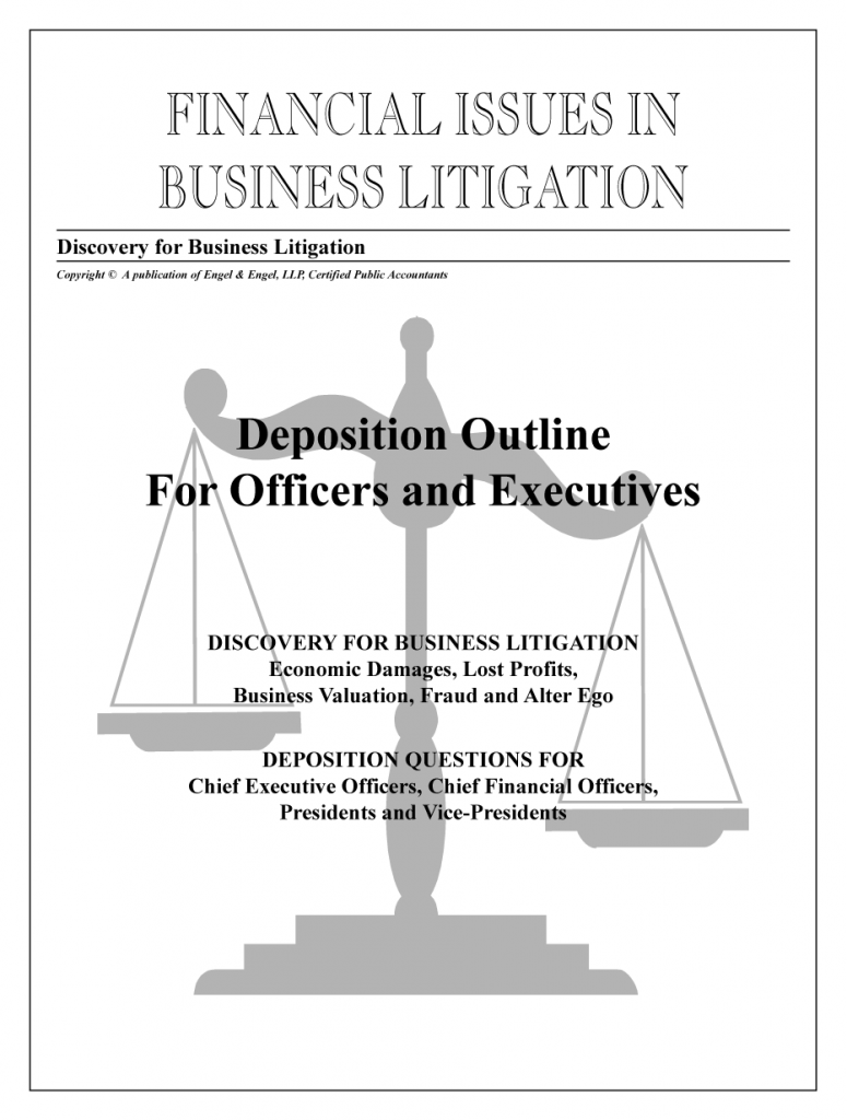 Deposition Outline for Officers & Executives