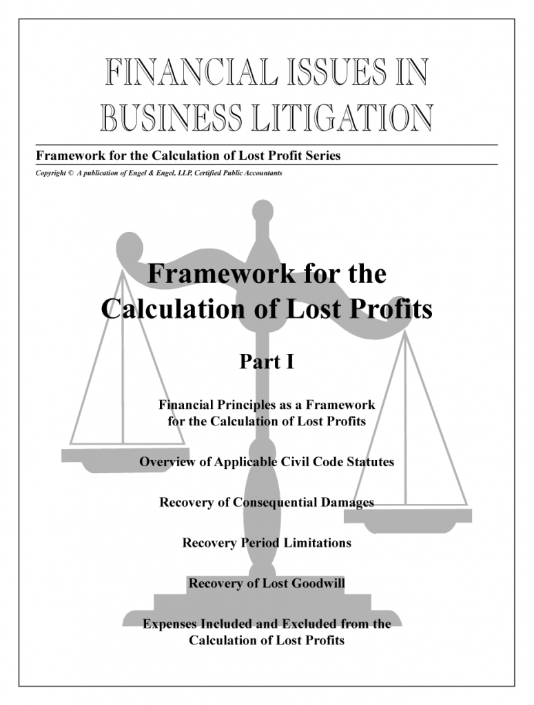 Framework for the Calculation of Lost Profits: Part I